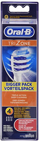 Oral-B Trizone Toothbrush Heads Pack of 4 Replacement Refills for Electric Rechargeable Toothbrush