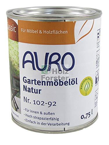 AURO Gartenmöbelöl Classic Nr.102-92 Natur, 0,75 Liter