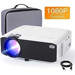 Vidéoprojecteur APEMAN Supporté 1080P FHD, 3800 Lumens Mini Portable Projecteur avec Mallette de Transport, LED Home Cinéma Rétroprojecteur, HDMI/VGA/AV/TF/USB Compatible avec TV Box/Ordinateur/PS4