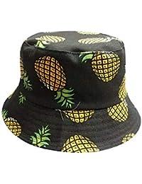 62219736214bc Sombrero De Pesca De Piña De Las Flores Imprimir Cubo Mujeres Sombrero  Acogedor Plegable Ocio Sombrero