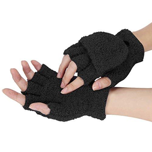 ESAILQ Mädchen Frauen Damen Hand Wrist Warmer Winter Fingerlose Handschuhe Fäustling (Fingerlose Stil Handschuhe)