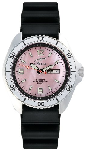 Chris Benz CBO.R.KB.SI - Reloj analógico de cuarzo para hombre con correa de caucho, color negro