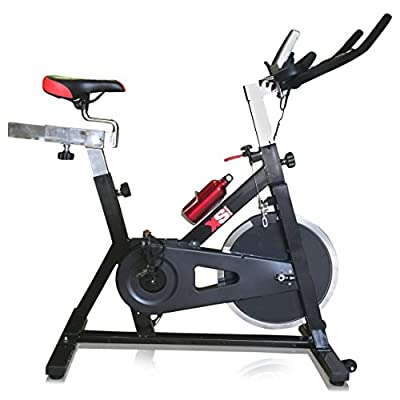 XS Sports Aerobic Indoor Training Exercise Bike-Fitness Cardio Home Cycling Racing-15kg Flywheel with PC + Pulse Sensors from XS Sports