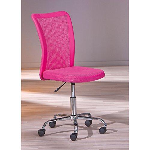 Links 99803152 Schreibtischstuhl für Kinder höhenverstellbar, Metallfuß Mesh PU, 43 x 56 x 88-98 cm, pink