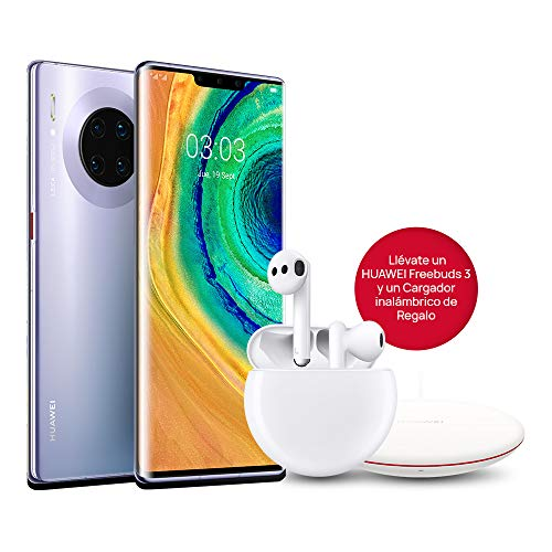 HUAWEI Mate 30 Pro - Smartphone con Pantalla Curva de 6.53' (Kirin 990, 8 + 256 GB, Cuádruple cámara Leica, Batería de 4500 mAh, EMUI10), Color Space Silver + MediaPad M6 10.8' 64GB Titanium Grey