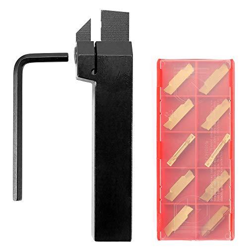 KKmoon Utensili Tornio per Metallo- Inserto di Metallo Duro del Foro della Barra di Alesatura del Taglio Esterno del Tornio con l'attrezzo di Tornitura della Chiave