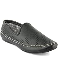 Isole Black Party Wear Casual Loafers