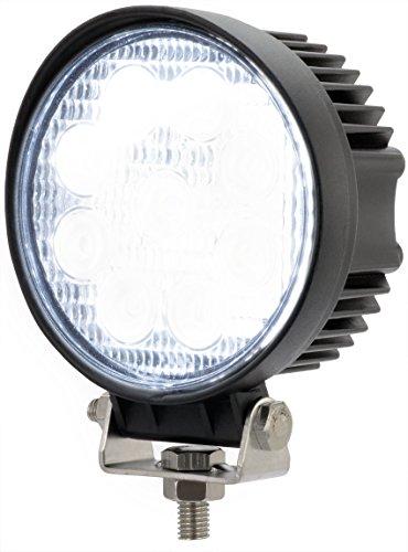 AdLuminis LED Arbeitsscheinwerfer Arbeitsleuchte rund, 27 Watt 1620 Lumen, 60°, 12V 24V, IP67 Schutzklasse, 6000K, Zusatzscheinwerfer, Rückfahrscheinwerfer, Suchscheinwerfer