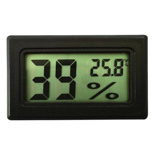 Huhuswwbin Hygrometer, Mini-Digital-LCD-Feuchtigkeitsmesser, Hygrometer mit integrierter Sonde, Schwarz multi Lcd-digital-safe
