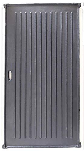 BBQ Chief Grillplatte Wendeplatte für Gasgrill, Kohlegrill, Elektrogrill passend für alle Grills beliebiger Marken, Größe 44 x 25 cm