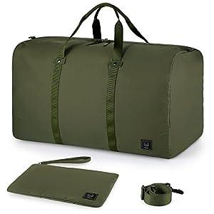 41AzfYYYXzL. SS300  - GAGAKU 70L Bolsa de Viaje y Deporte Plegable Grande Bolsa con Compartimento para Zapatos Duffel Bag