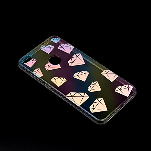 Cover Huawei P8 Lite 2017, Custodia Huawei P8 Lite 2017, Cozy Hut Premium Beautiful IMD Craft Gradient Color Design per Huawei P8 Lite 2017 Cover Custodia Silicone Transparente Pulire Stampa TPU Back  diamante