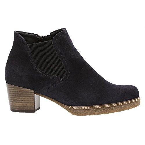 Gabor Damen Chelsea Boots 96.661,Frauen Stiefel,Halbstiefel,Stiefelette,Bootie,Schlupfstiefel,Hoch,Blockabsatz 3.5cm,Einlegesohle,G Weite (Normal),nightbl(Sn/AMA/Mic,UK 6