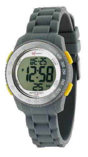 Sector - R3251572215 - Expander - Montre Mixte - Quartz Digital - Cadran Blanc - Bracelet Silicone Gris