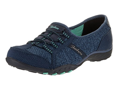 Skechers Breathe-easy allure, Baskets Basses femme Navy/Green