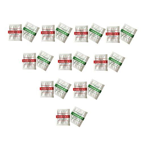 Uzinb 20pcs / Set PH-Test Meter Kalibrierlösung pH-Puffer Powder 4,01/6,86 Kalibrierungspunkt messen -