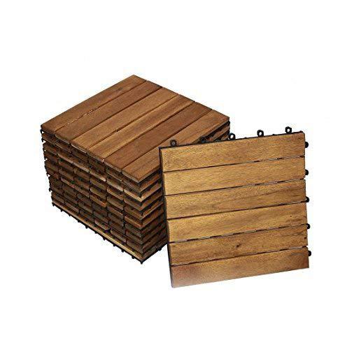 SAM Terrassenfliese 01, Akazienholz, 11 Klick-Fliesen für 1m², 30x30cm, FSC® 100%, Garten- Bodenbelag mit Drainage   Garten > Bodenbeläge-Garten   Holz - Geölt - Naturbelassen - Kunststoff - Akazienholz   SAM