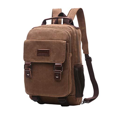(CHENYANG Vintage Mode Canvas Rucksack Freizeit Schulrucksack Laptop-Rucksack Unisex Arbeitsrucksack)