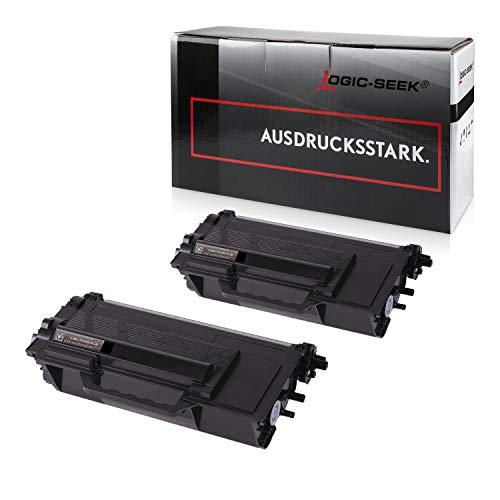 2 Logic-Seek Toner kompatibel für Brother TN-3480 für Brother HL-L5000D HL-L6300DW HL-L5100DNT HL-L5100DN HL-L5100DNTT DCP-L6600 MFC-L5700 - Schwarz je 8.000 Seiten -