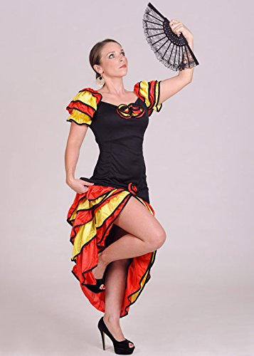 Rumba Flamenco Kostüm Lady (Rumba Lady Spanisch Flamenco)