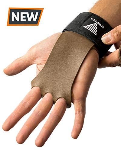 GORNATION® 2-in-1 Pull-Up Grips und Handgelenk-Bandage für den idealen Hand- und Gelenkschutz - Hand Grips, Handschuhe für Crossfit, Calisthenics, Kraftsport, Bodybuilding, Turnen (S)