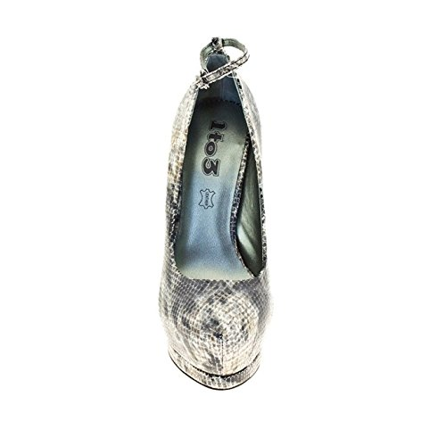 1TO3 - Chaussure avec plate-forme strass Animal print - Combi2