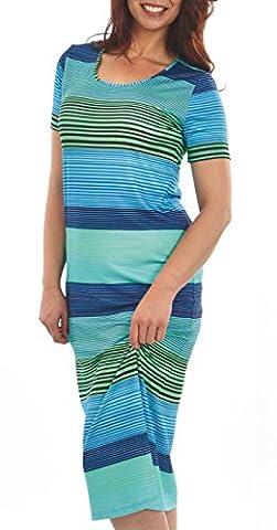 Graziella Pamir Kleid Hauskleid Strandkleid Länge 120cm mit Druck Gr. 44 Freizeitmode Homewear