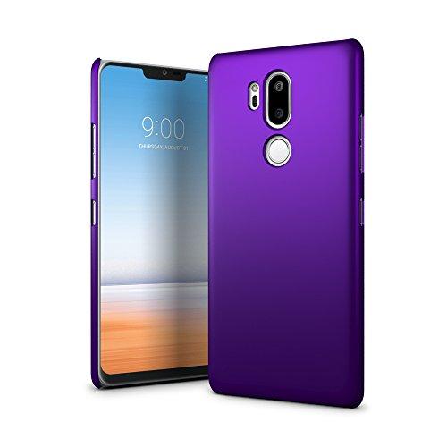 SLEO LG G7 ThinQ/LG G7 Hülle, Hart PC [Robuste Schutzhülle] Handyhülle Tasche Schlank Schale Hard Cover für LG G7 ThinQ/LG G7 Case - Lila (Lila Hard Case)
