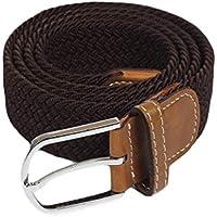 Desconocido JIER Cinturón para Hombre, Cinturón Trenzado Elástico Unisex Hombres Mujeres Cinturón Tejido Elástico Trenzado Elástico para Jeans 33 mm