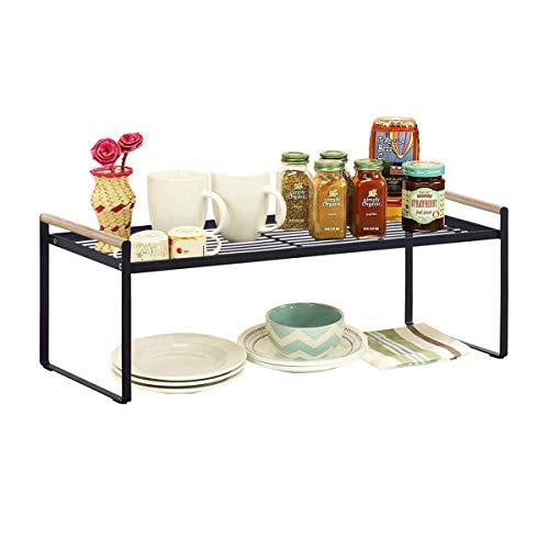 Küchenschrank und Thekenregal, Organizer, Schwarz Large schwarz