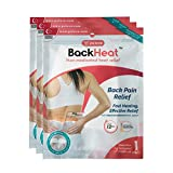 BackHeat Heat Patch for Backache Relief and Comfort from Back Pain - Pack of 3 (Patches/Wraps/Pads)