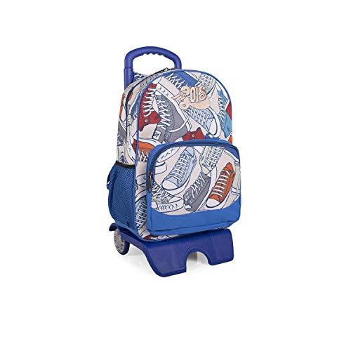 Lois - Mochila Escolar con Ruedas Infantil para Niño. Carro Trolley Extensible....