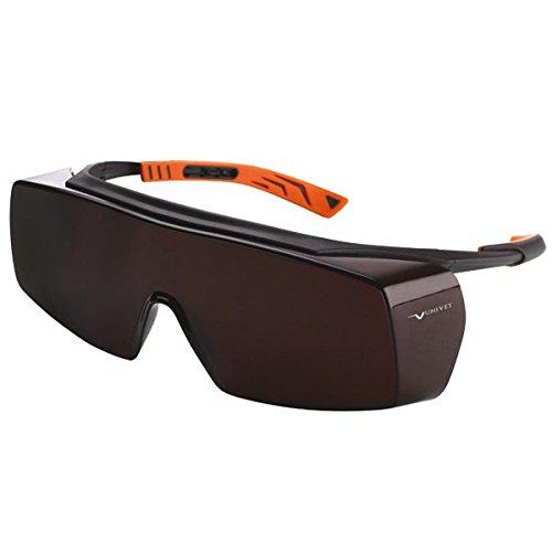 Univet 5X7.01.00.09 Überbrille 5X7 mit Amber Glas in schwarz/orange