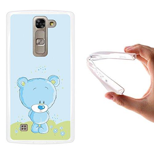 WoowCase LG G4c Hülle, Handyhülle Silikon für [ LG G4c ] Lieblingsvoller Teddybär Handytasche Handy Cover Case Schutzhülle Flexible TPU - Transparent