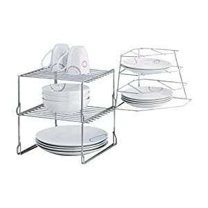 Steel Wire Cupboard Storage Solution Plate Rack With Corner Rack By Dyu0026dx:  Amazon.co.uk: Kitchen U0026 Home
