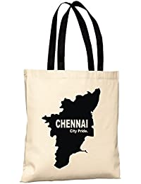 Chennai City Pride Reusable 100% Cotton Eco Friendly Printed Tote Bag From State Pride -T