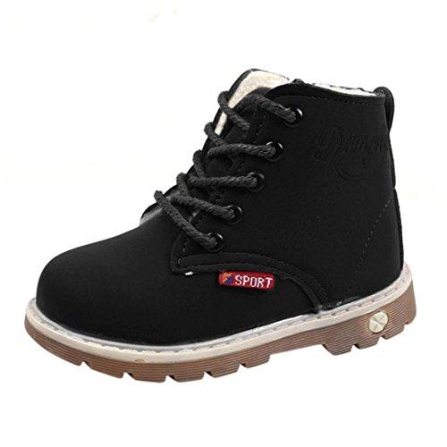 Warm Kinder Stiefel Btruely Mode Warme Baby Martin Sneaker Jungen Mädchen Beiläufig Kleinkind Schuhe (28, Schwarz)