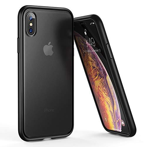 Humixx iPhone Xs/X  Stoßstange Schutzhülle, Schwarz