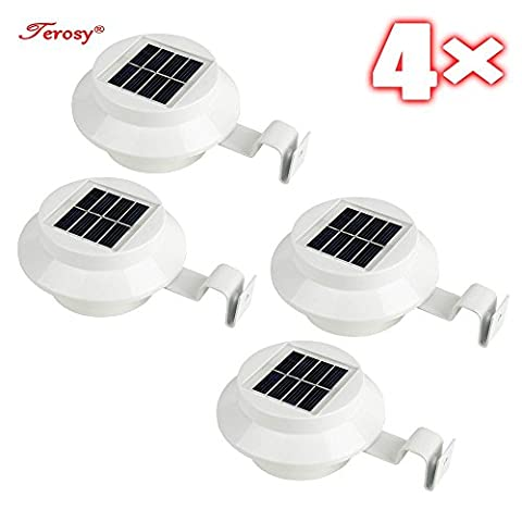 Pack of 4 White Superbright 3 LED Solar Powered Lights