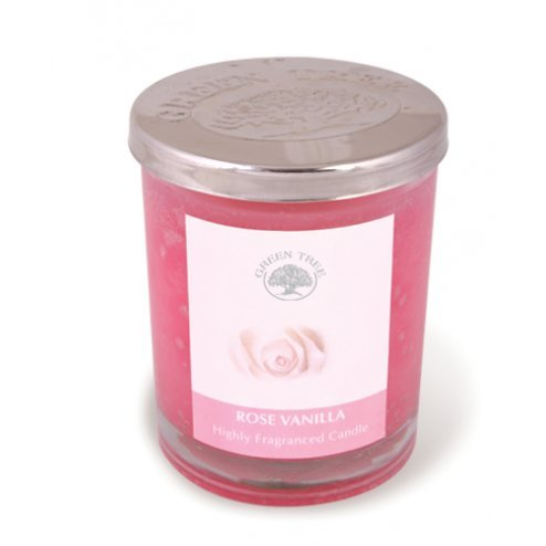 GREEN TREE CANDLE 0805460312164 Rose Vanille – Bougie parfumée