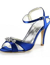 ZQ Zapatos de boda-Tacones-Tacones / Punta Abierta-Boda / Vestido / Fiesta y Noche-Negro / Azul / Amarillo / Rosa…