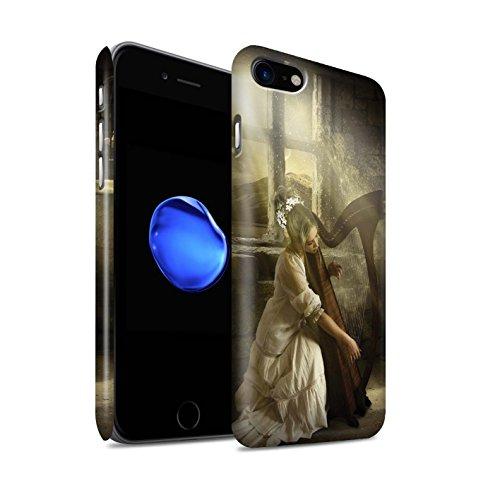 Offiziell Elena Dudina Hülle / Matte Snap-On Case für Apple iPhone 8 / Harfe/Harfenspieler Muster / Trost der Musik Kollektion Harfe/Harfenspieler