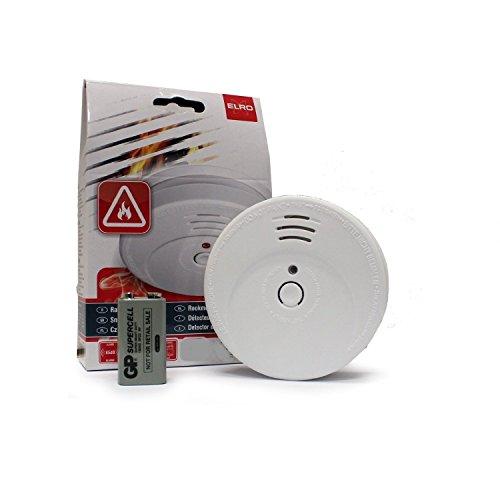 10 Stck - ELRO RM144C Rauchmelder nach EN 14604 - Feuermelder Brandmelder inkl. Batterien und Montagezubehör