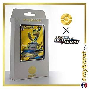Pharamp-GX (Ampharos-GX) 163/181 Full Art - #myboost X Soleil & Lune 9 Duo de Choc - Box de 10 Cartas Pokémon Francés