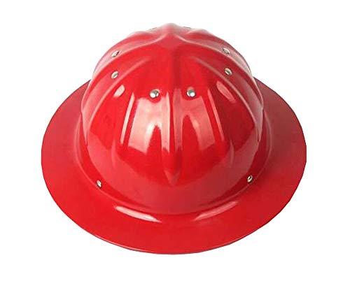 WEN Aluminiumhelm, großer Hut, Sonnenschirm, Sonnenschutz, Aufprallstelle, Außenhelm Hardhats (Farbe : Rot)