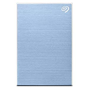 Seagate Backup Plus Slim 2TB External Hard Drive Portable HDD – Light Blue USB 3.0 for PC Laptop and Mac, 1 Year Mylio Create, 4 Months Adobe CC Photography, and 3-Year Rescue Services (STHN2000402)