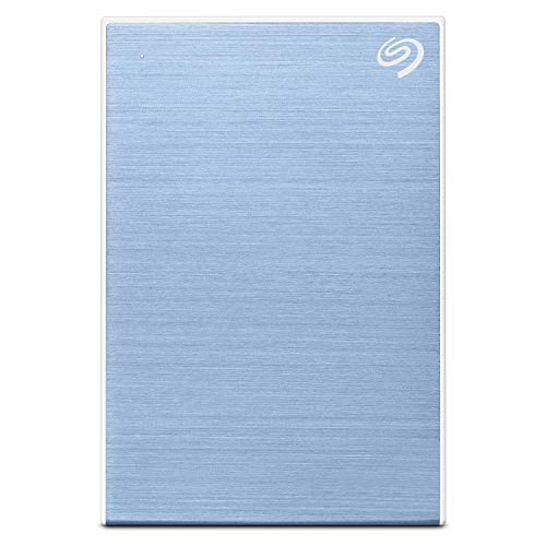 Seagate Backup Plus Slim 1 TB External Hard Drive Portable HDD - Light Blue USB 3.0 for PC Laptop and Mac, 1 Year Mylio Create, 2 Months Adobe CC Photography (STHN1000402)