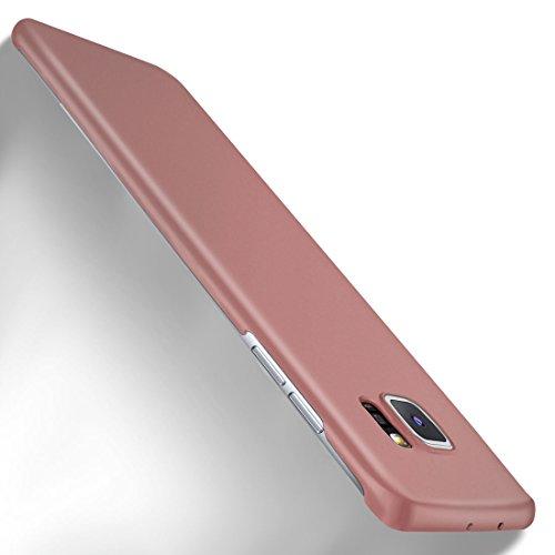 MoEx Samsung Galaxy S7 Edge Hülle Rose-Gold OneFlow Alpha Back-Cover TPU Schutzhülle Dünn Handyhülle für Samsung Galaxy S7 Edge Case Ultra-Slim Thin Skin Handy Schutz Rückseite