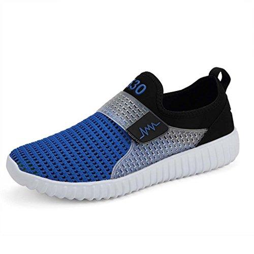 Laufschuhe Leichte Sneaker Damen Herren Fahren Schuhe Casual Sandalen Blau