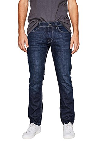 ESPRIT Herren Straight Jeans 997EE2B800, Blau (Blue Dark Wash 901), W31/L34 (Basic Dark-denim-jeans)